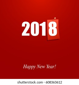 Happy New Year 2018 design card vector