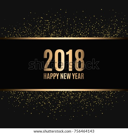 happy new year 2018 gold glitter new year gold background for flyer banner