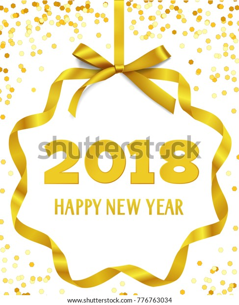 Happy New Year 2018 Greeting Text Stock Vector (Royalty Free) 776763034
