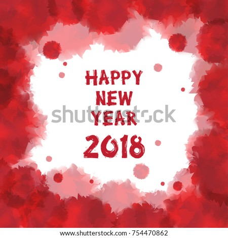 Happy New Year 2018 Greetings Card Stock Vector (Royalty Free ...