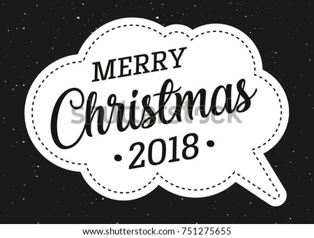 Happy New Year 2018 Merry Christmas Stock Vector (Royalty Free ...