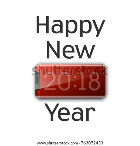 Happy new year 2018 phone background stock vector royalty free happy new year 2018 phone background smartphone decoration greeting card telephone design template 2018 m4hsunfo
