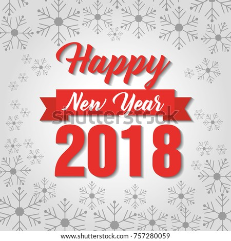 happy new year 2018 poster greeting invitation decoration
