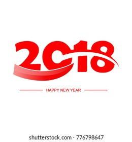 Happy new year 2018 template vector illustration