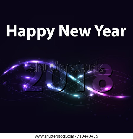 happy new year 2018 two thousand and eighteen
