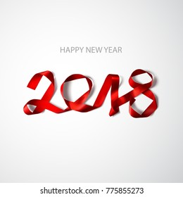 happy new year 2018 vector illustration design element
