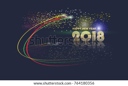happy new year 2018 vector new year background abstract new years fireworks greeting