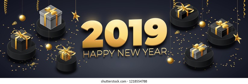 happy new year 2019 background place for text