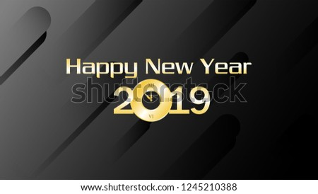 happy new year 2019 background template can use for banner website card invitation