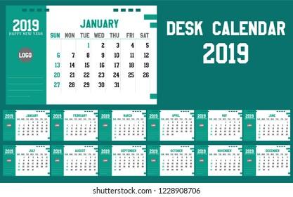 Design Calendar 2018 Set Four Months Stock Vector Royalty Free