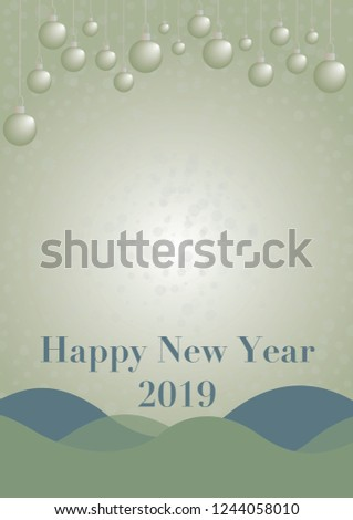 happy new year 2019 card vector with copy space illustrator eps 10