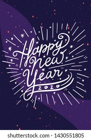 Happy New Year 2019 Celebration greeting card illustration for New Year eve - Vector Eps