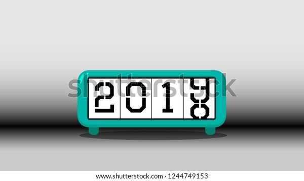 Happy New Year 2019 New Year Stock Vector (Royalty Free) 1244749153