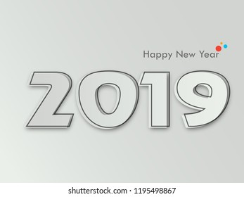 Happy New Year 2019 Creative Design Stock Vector Royalty Free