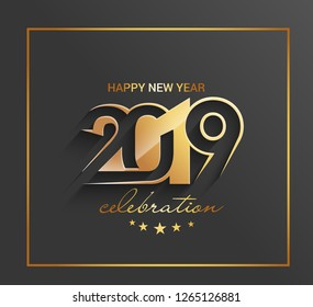 Happy New Year 2019 Design Patter, Vector illustration.