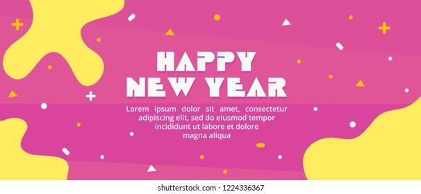 Happy New Year 2019 Holiday Vector Illustration