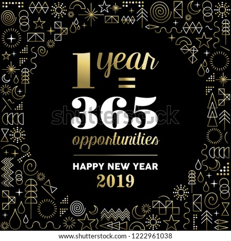 Happy New Year 2019 Inspiration Quote Stock Vector ...