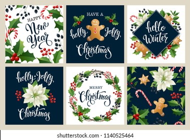 Happy new year 2019. Merry Christmas white and black colors. Design for poster, card, invitation, placard, flyer, brochure. Vector isolated illustrations.