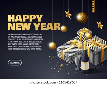 happy new year 2019 place for text