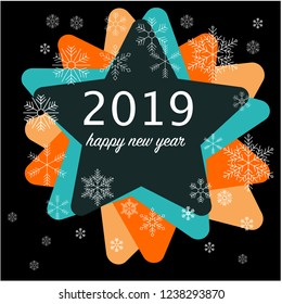 happy new year 2019 template vector card