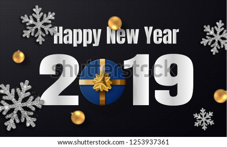 Happy New Year 2019 Template Holiday Stock Vector Royalty Free