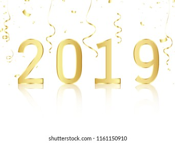 happy new year 2019 vector illustration