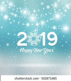 Happy New Year 2019 Vector Illustration Stock Vector Royalty Free