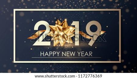 Happy New Year 2019 Winter Holiday Image Vectorielle De Stock Libre