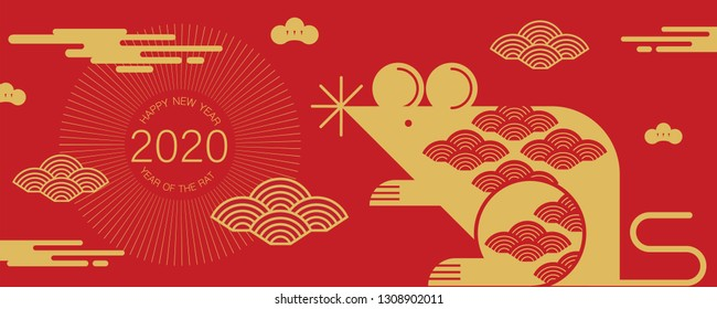 happy new year, 2020, Chinese new year greetings, Year of the Rat , fortune.