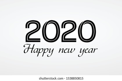 Happy new year 2020 design template. Design for calendar, greeting cards or print.