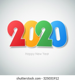 Happy new year 2020  greeting card. Vector illustration eps10