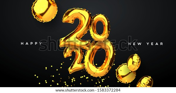 happy new year 2020 greeting card stock vector royalty free 1583372284 shutterstock