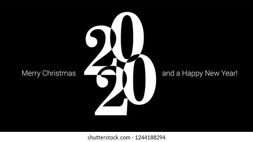 Happy new year 2020 vector background. Cover of card for 2020.