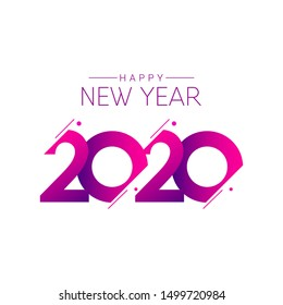 happy new year 2020 vector template. Design for banner; greeting cards or print.