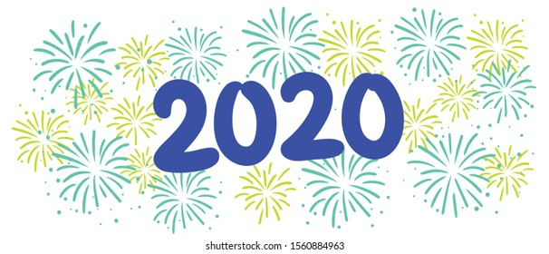 Happy New Year 2020 Vector Graphic