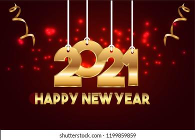 Happy New Year 2021 Design.