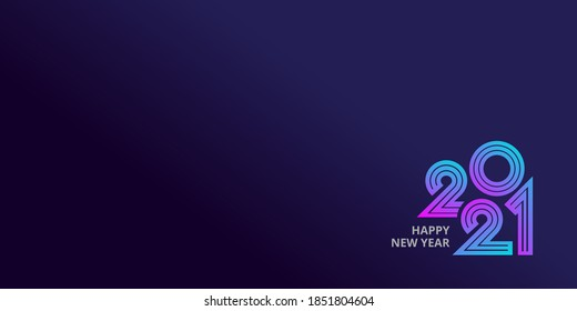 Happy new year 2021 template banner background