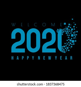 Happy New Year 2021 vector illustration with gone of 2020 and welcome 2021 concept design. Good template for New year or calendar design.