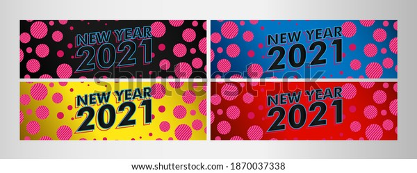 happy new year 2021, vector beautiful greeting card or label with technology theme