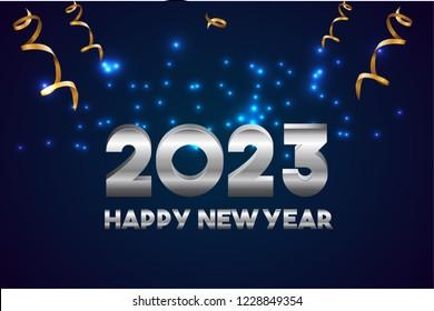 Happy New Year 2023 Design.