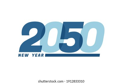 Happy New Year 2050. Happy New Year 2050 text design for Brochure design, card, banner