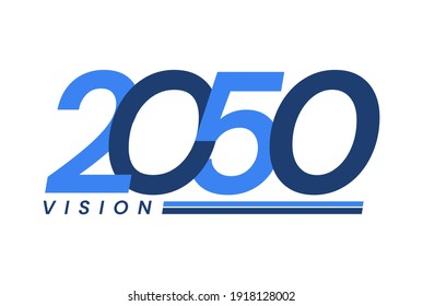Happy New Year 2050. 2050 Vision Modern Design for Calendar, Greeting Cards, Invitations, Flyers or Prints