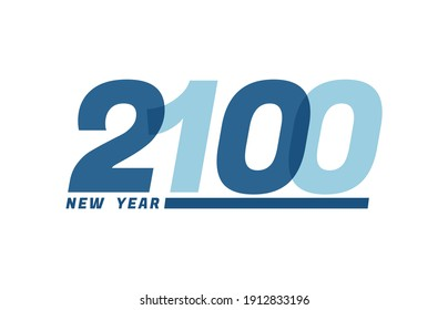 Happy New Year 2100. Happy New Year 2100 text design for Brochure design, card, banner