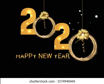 Happy New Year background. Vector illustration