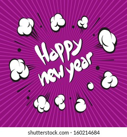 Happy New Year backgrounds, vector illustration