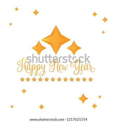 happy new year banner vector illustration design