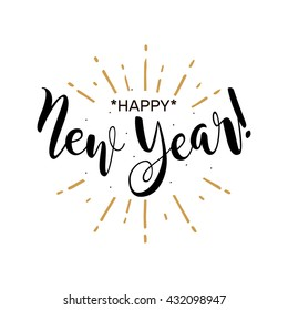 new year white background images stock photos vectors shutterstock https www shutterstock com image vector happy new year beautiful greeting card 432098947