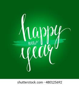 Happy New Year calligraphy design.