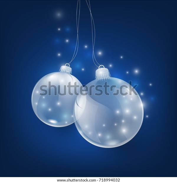 Happy New Year Card Glass Christmas Stock Vector (Royalty Free