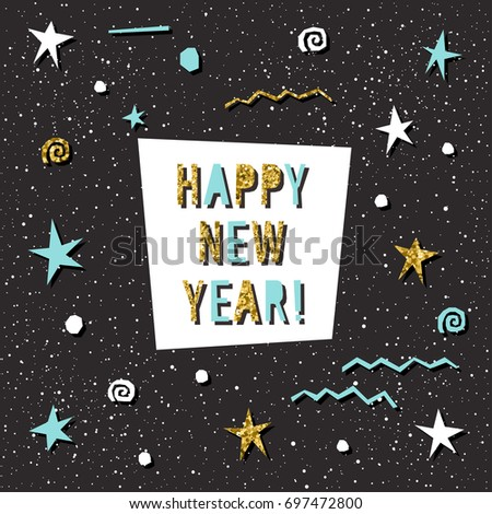 happy new year card handmade letters for design new year card invitation t
